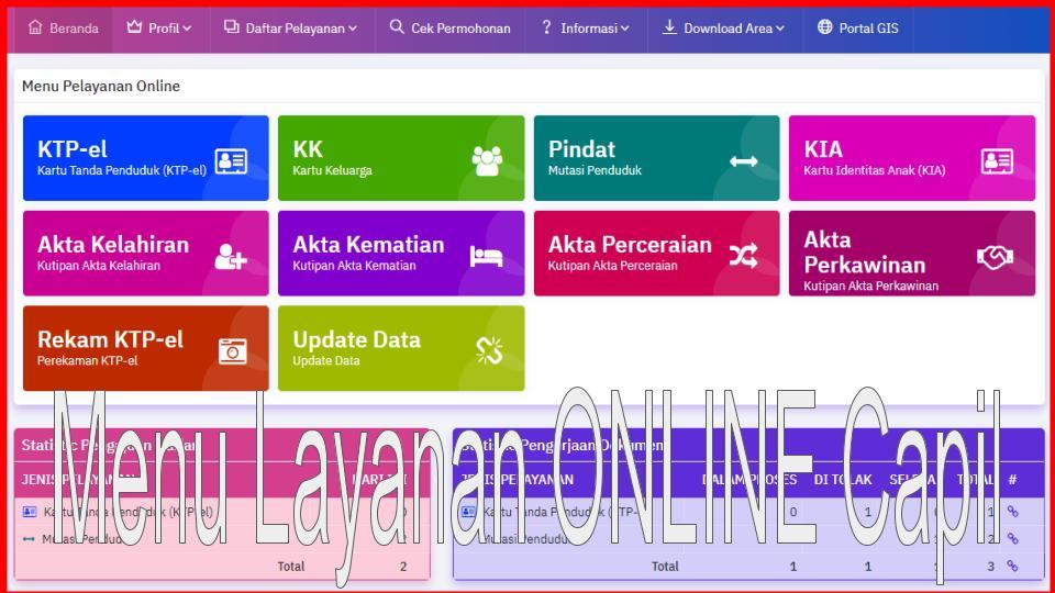 Mantaf... Mulai 01 September 2020 Disduk Capil Lam-Sel Melayani Secara Online